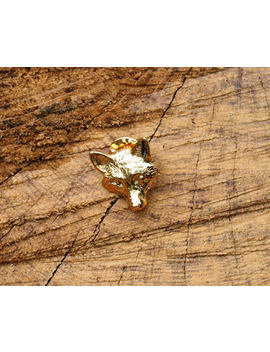 Fox Face Gold Plated Pin Lapel Badge Fox Hunting Gift by Etsy
