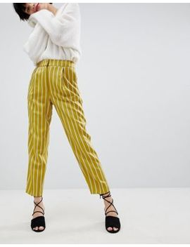 Warehouse Stripe Tapered Pants by Warehouse