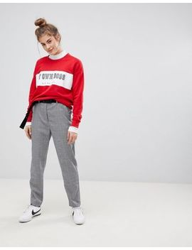 Pull&Bear Mini Check Peg Leg Pants by Pull&Bear