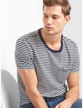 essential-stripe-pocket-tee by gap