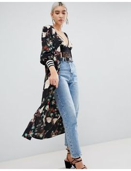 Pretty Little Thing Printed Kimono by Pretty Little Thing
