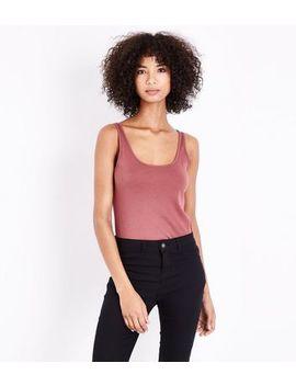 Deep Pink Scoop Neck Vest by New Look