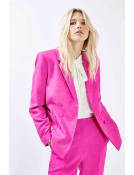 Topshop Tailored Suit Jacket Blazer In Bright Pink Size 6 To 16 by Topshop