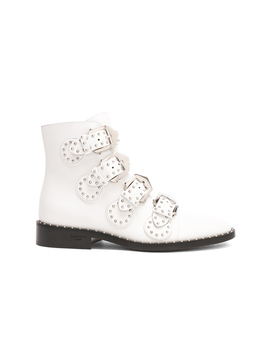 Leather Elegant Studded Ankle Boots by Givenchy