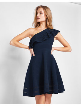 One Shoulder Knitted Dress by Ted Baker