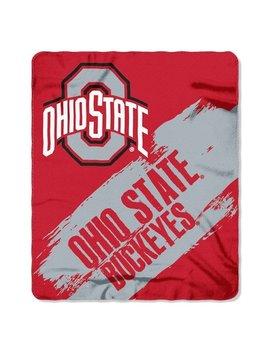 Ohio State Buckeyes 50x60 Fleece Blanket   College Painted Design by Hall Of Fame Memorabilia