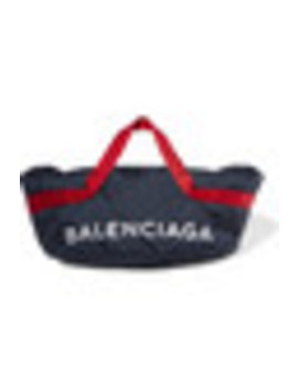 Wheel Embroidered Shell Bag by Balenciaga