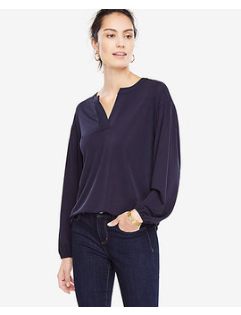Lantern Sleeve Top by Ann Taylor