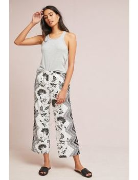 Glencairn Cropped Wide Leg Trousers by Anthropologie
