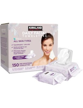 Kirkland Signature Daily Facial Towelettes, 150 Count by Kirkland Signature