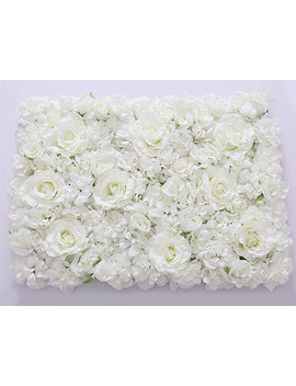 Diy Artificial Rose Flower Heads Silk Decorative Flower Hotel Background Wall Decor Wedding Flower Bouquet by Floace Official Store