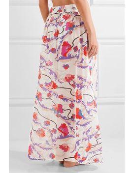 Ranuncoli Printed Cotton Voile Maxi Skirt by Emilio Pucci