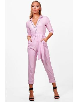 Honey Pyjama Style Skinny Leg Jumpsuit by Boohoo