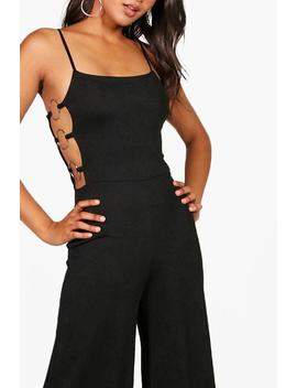 Mia Square Neck Ring Side Jumpsuit by Boohoo