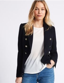 Gold Button Jacket by M&S Collection