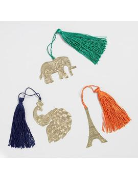 Elephant, Peacock And Eiffel Tower Bookmarks Set Of 3 by World Market