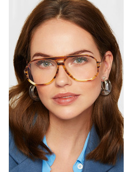 Aviator Style Acetate And Gold Tone Optical Glasses by Victoria Beckham