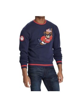Ralph Lauren 2018 Team Usa Olympic Polo Bear Sweatshirt Nwt by Ralph Lauren