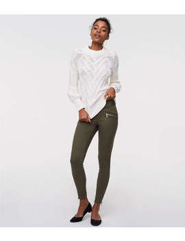 Tall Skinny Sateen Zip Pants&Nbsp; by Loft