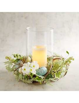 Blue Speckled Egg Hurricane Candle Holder by Pier1 Imports