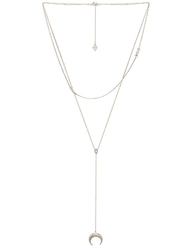 Crescent Diamante Necklace by Wanderlust + Co
