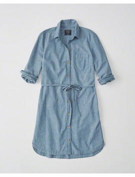 Chambray Shirtdress by Abercrombie & Fitch