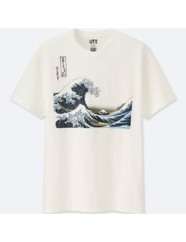 Herren Hokusai Blue T Shirt by Uniqlo