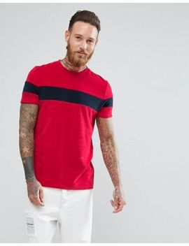 Asos T Shirt In Towelling With Contrast Body Panel by Asos