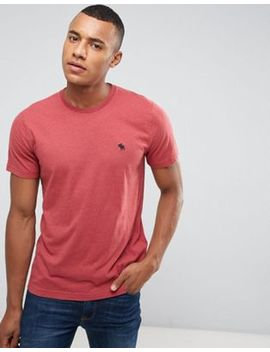 Abercrombie & Fitch Slim Fit T Shirt Pop Icon Crew Neck In Red by Abercrombie & Fitch
