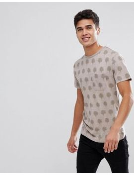 Bellfield Palm Print T Shirt by Bellfield