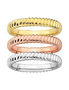 Stacks & Stones Ribbed Stack Ring by Kohl's