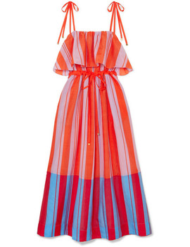 Striped Cotton And Silk Blend Gauze Maxi Dress by Diane Von Furstenberg