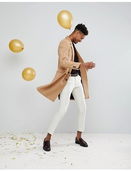 Asos Tall Oversized Burnout Shirt With Revere Collar by Asos