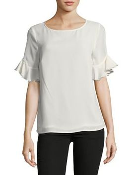 Ruffle Sleeve Blouse by Cece