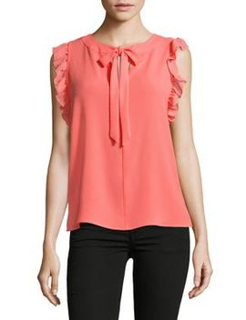 Front Tie Sleeveless Top by Cece