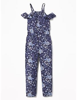 Floral Cold Shoulder Jumpsuit For Girls by Old Navy