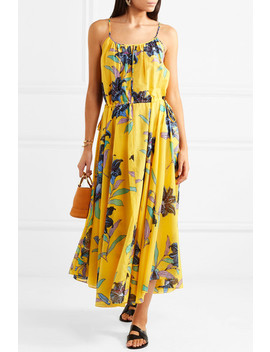 Floral Print Cotton And Silk Blend Maxi Dress by Diane Von Furstenberg