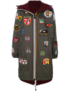 Dsquared2 X K Way Badge Patch Hooded Coat by Dsquared2