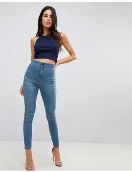 Asos Rivington High Waisted Jeggings In Chayne Mid Wash by Asos Collection