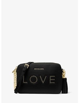 Ginny Love Leather Crossbody by Michael Michael Kors