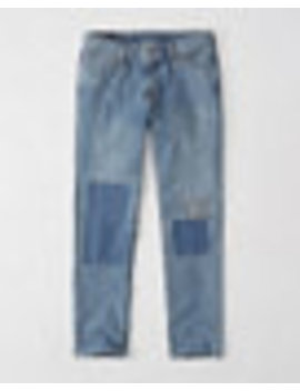 Athletic Slim Patch & Repair Jeans by Abercrombie & Fitch