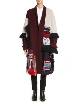 Rotaldo Wool & Cashmere Patchwork Cardigan by Burberry