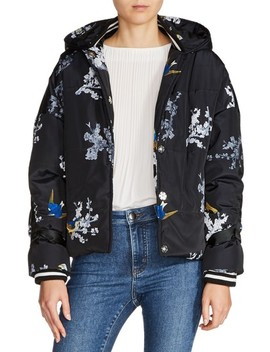 Hooded Print Jacket by Maje