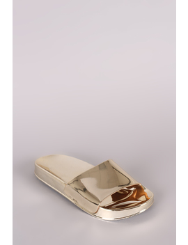Liliana Metallic Jelly Open Toe Slide Sandal by Urbanog