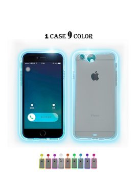 Winhoo I Phone 7/8 Plus Case,9 Color In 1 Led Flash Case ,Can Change 9 Different Colors Incoming Call Led Flash Light Alerts Clear Back Case For Apple I Phone (I Phone 7/8 Plus 5.5 Inch) by Winhoo