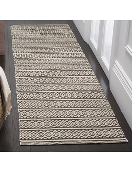 "Safavieh Montauk Collection Mtk341 D Ivory And Black Runner (2'3"" X 12') by Safavieh"