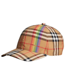 Rainbow Vintage Check Baseball Cap by Burberry