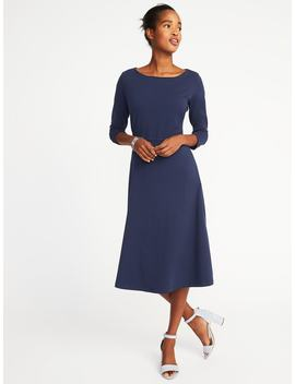 Fit & Flare Midi Dress For Women by Old Navy