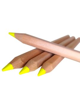 Eco Highlighter Pencils   Set Of 4 Yellow   Will Not Bleed Or Dry Out   Great For Left Handed Does Not Smudge by Stubby Pencil Studio