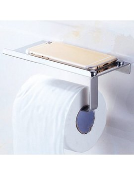 Voberry Toilet Roll Tissue Holder Stand Paper Storage Dispensers Wall Mounted Bathroom by Voberry